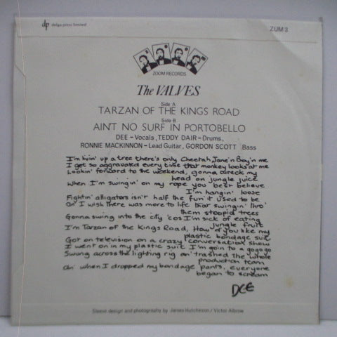 "VALVES, THE - Tarzan Of The King's Road (UK Orig.7"")"