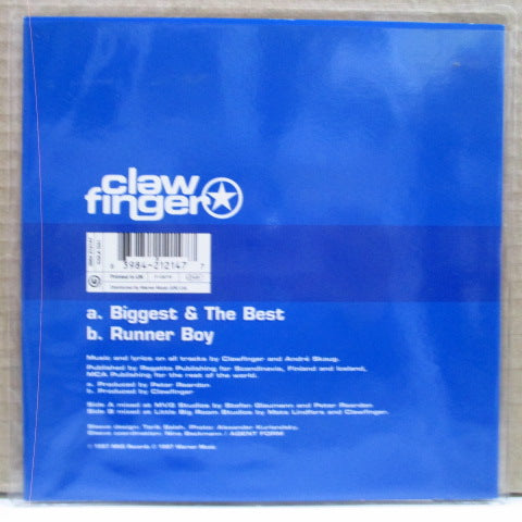 CLAWFINGER - Biggest&The Best(UK Orig.Blue Vinyl 7)