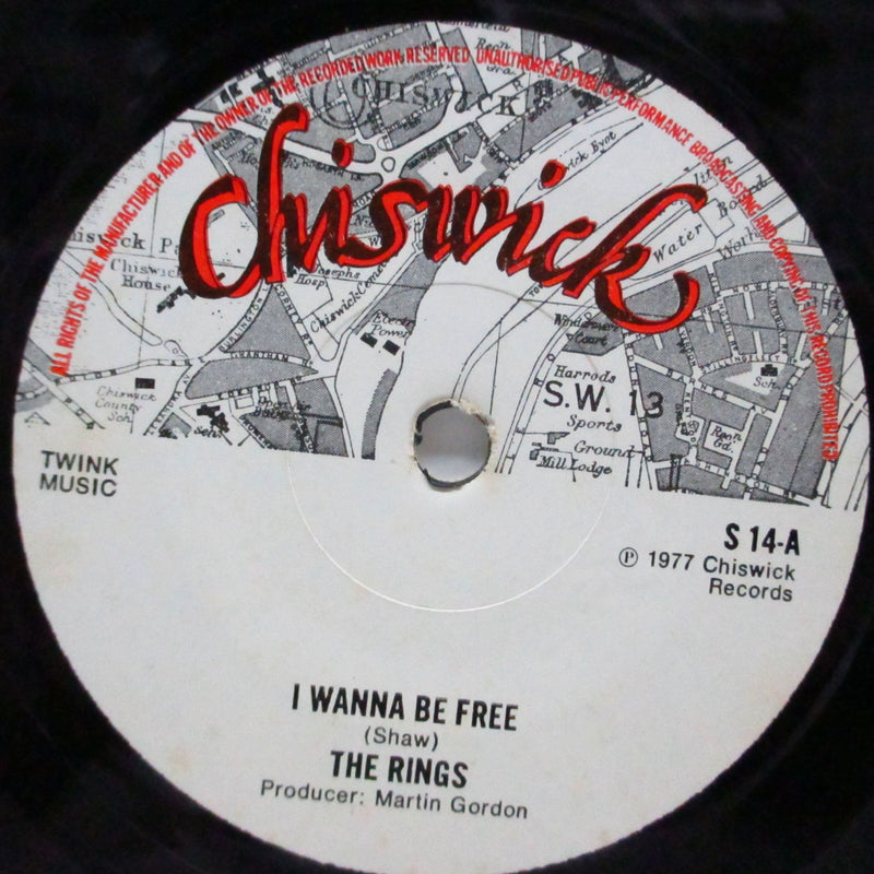 "RINGS, THE - I Wanna Be Free (UK 2nd Press 7""+Matte PS/S 14)"