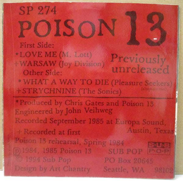 "POISON 13 - S.T. (US Orig.7""+CS)"