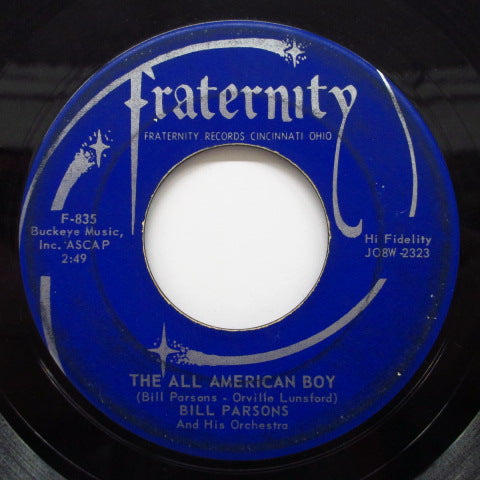 BILL PARSONS (BOBBY BARE) - Rubber Dolly / The All American Boy