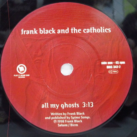 "FRANK BLACK AND THE CATHOLICS - All My Ghosts (UK/EU Orig.7"")"