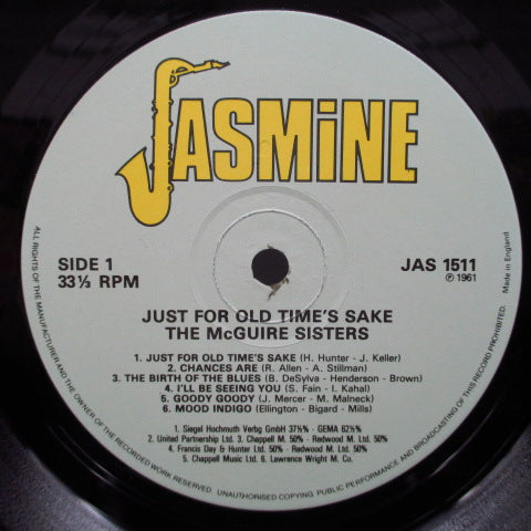 McGUIRE SISTERS-Just For Old Time's Sake