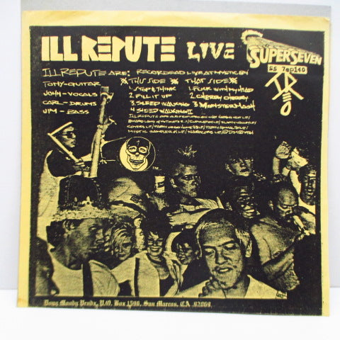 "ILL REPUTE - Halloween Live  (US Reissue 7""+Yellow PS)"