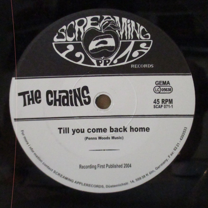 "CHAINS, THE - Till You Com Back Home (German Orig.7""+PS)"
