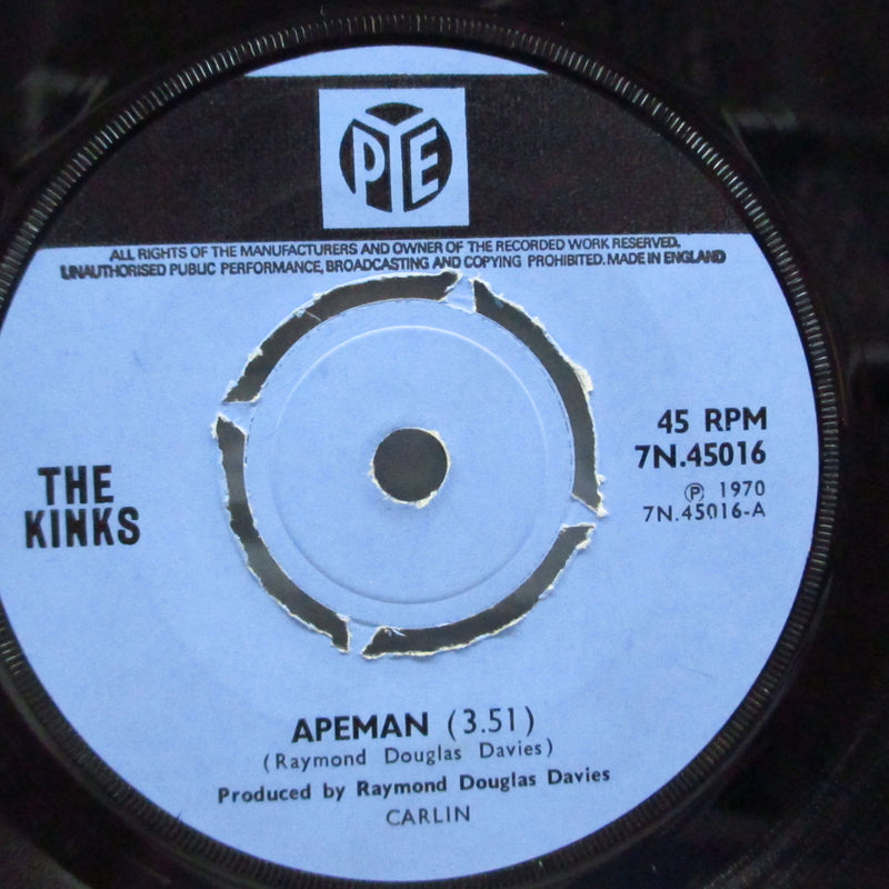 "KINKS (キンクス)  - Apeman / Rats (UK Orig.Round Center 7""+CS)"