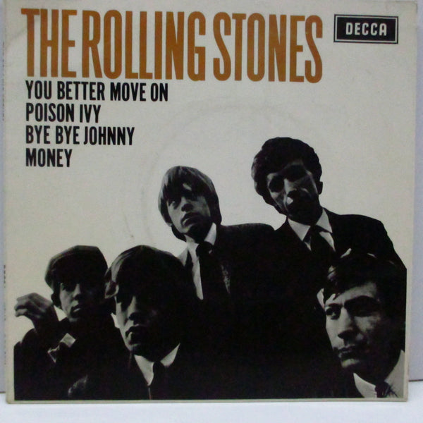 ROLLING STONES (ローリング・ストーンズ)  - S.T./ Bye Bye Johnny +3 (UK 60's Re EP+CS/SIDE表記無ラベ)