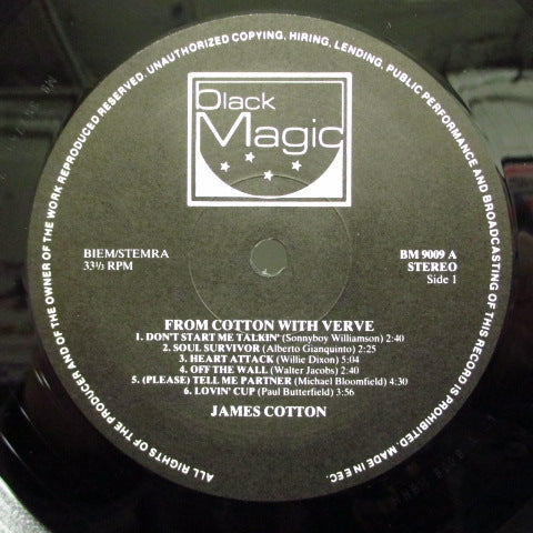 JAMES COTTON-From Cotton With Verve (DUTCH)
