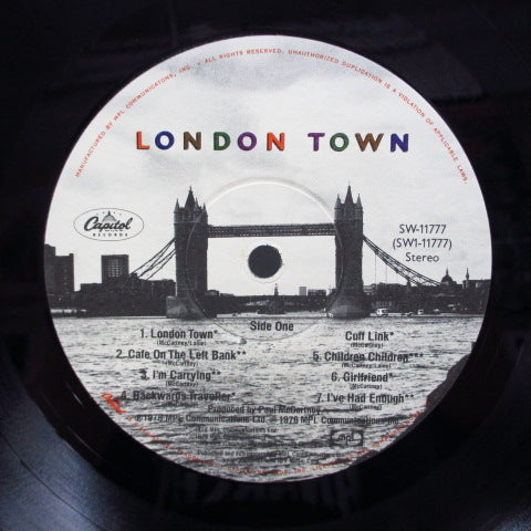 PAUL McCARTNEY & WINGS - London Town (US Orig.+Poster/光沢CVR)