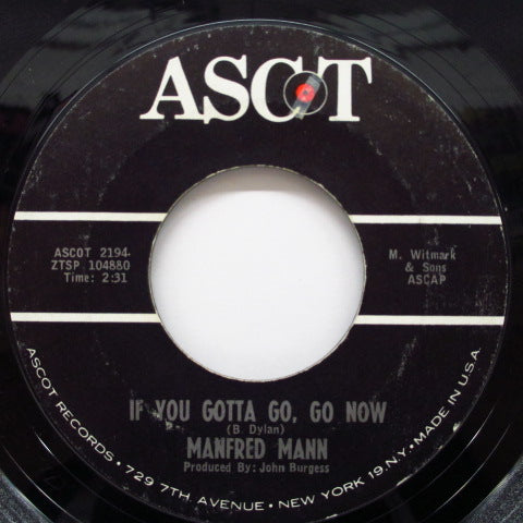 "MANFRED MANN - If You Gotta Go, Go Now (US Orig.7"")"