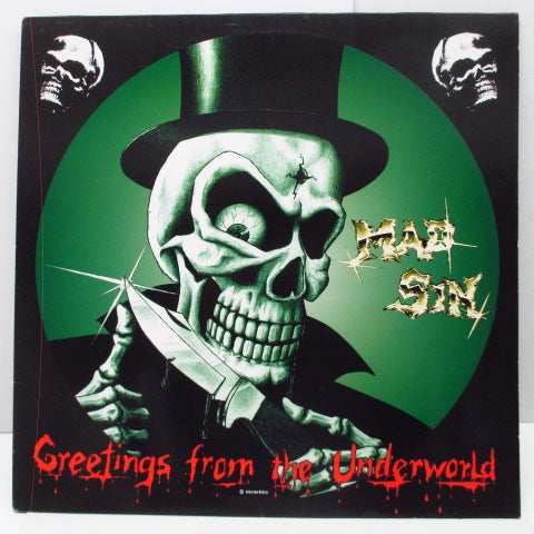 MAD SIN (マッド・シン)  - Greetings From The Underworld (German Unofficial.LP)