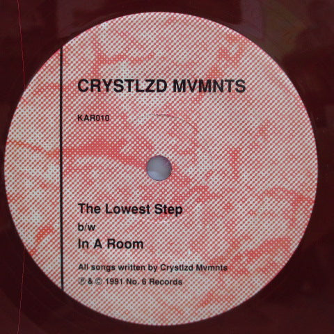 "CRYSTALIZED  MOVEMENTS, THE - The Lowest Step / In A Room (US Orig.Red Vinyl 7"")"