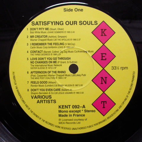 V.A.- Satisfying Our Souls (WEST GERMAN / FRANCE = Export?)