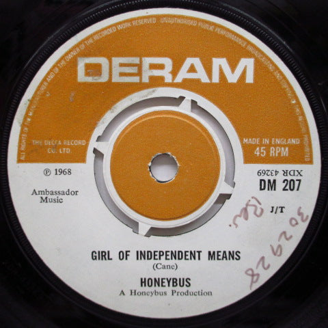 "HONEYBUS - Girl Of Independent Means (UK Orig.7""+CS)"