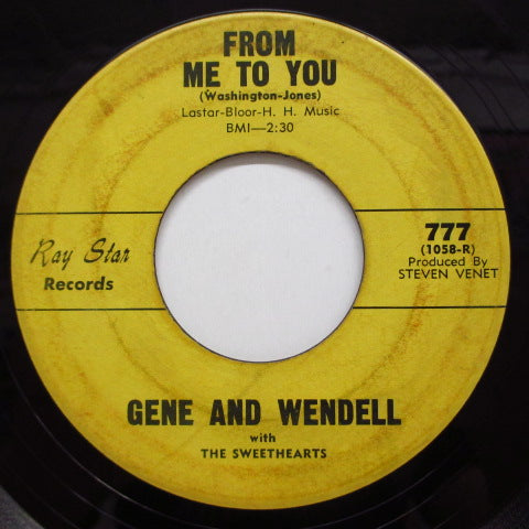 GENE & WENDELL - The Roach / From Me To You (Orig)