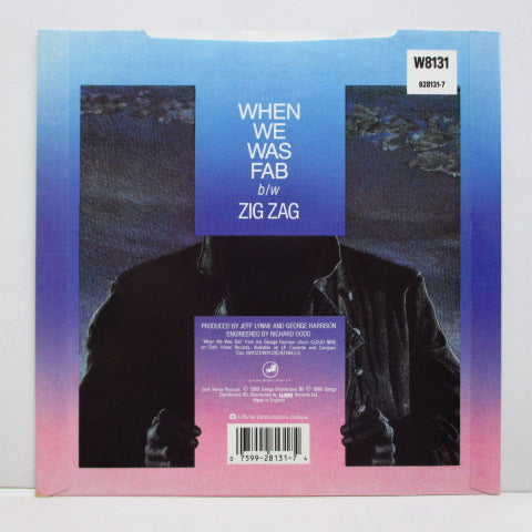 GEORGE HARRISON - When We Was Fab (UK Orig.+PS/Promo Sticker)