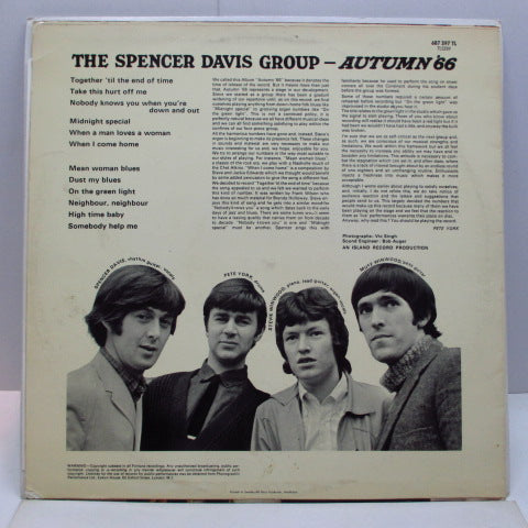 SPENCER DAVIS GROUP - Autumn '66 (Sweden Orig.Mono LP/両面CS)
