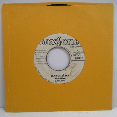 "DELROY WILSON - Joe Liges / Tear Us Apart (Jamaica 7"")"
