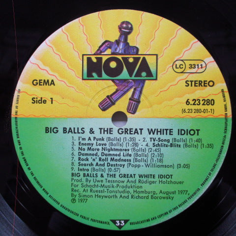 BIG BALLS & THE GREAT WHITE IDIOT - S.T. (German Orig.LP w/Sign)