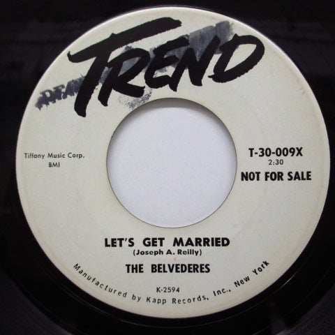 BELVEDERES - Let's Get Married (Promo)