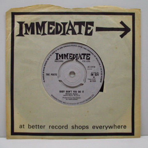 "POETS - Baby Don't You Do It (UK Orig.7""+CS)"