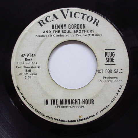 BENNY GORDON - In The Midnight Hour (Promo)