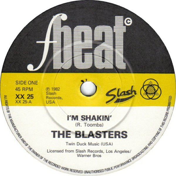 "BLASTERS - No Other Girl / I'm Shakin' (UK Orig.7""+PS)"