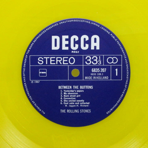 ROLLING STONES - Between The Buttons (Dutch 80's Re Yellow Vinyl Stereo)