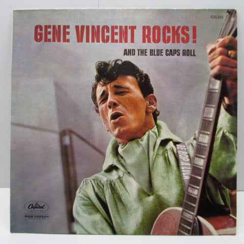 GENE VINCENT - Rocks! And The Blue Caps Roll (France 80's Re Black Lbl.Mono LP)