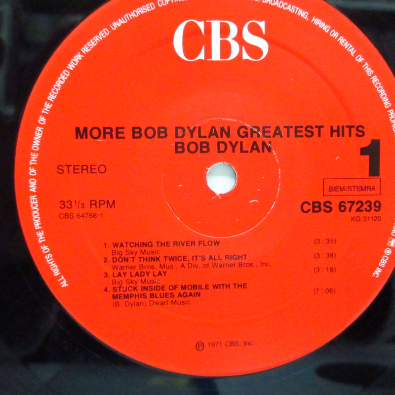 BOB DYLAN - More Bob Dylan Greatest Hits (Dutch 80's Reissue 2xLP/GS)