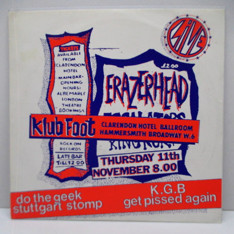 "ERAZERHEAD - Live At The Klub Foot (UK Orig.7"")"