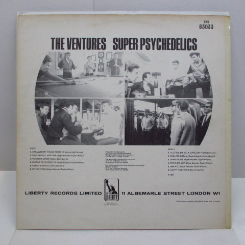 VENTURES - Super Psychedelics (UK:'68 Reissue STEREO)