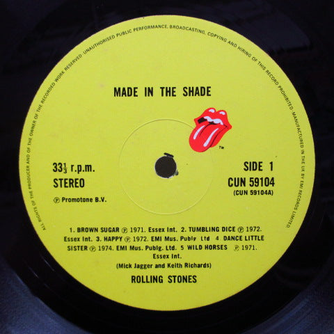 ROLLING STONES - Made In The Shade (UK 70's Reissue/CUN-59104)