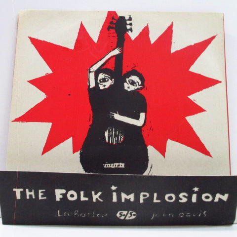 "FOLK IMPLOSION, THE - Electric Idiot EP (Belgium Orig. Clear Vinyl 7"")"