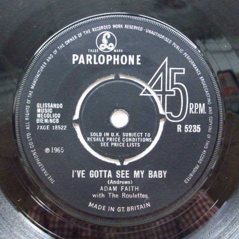 ADAM FAITH & THE ROULETTES - I've Gotta See My Baby (UK Orig.)
