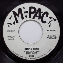 BOBBY DAVIS - Damper Down / A Human's Prayer