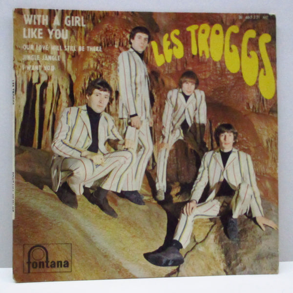 TROGGS (トロッグス)  - With A Girl Like You + 3 (France Orig.EP+CFS)