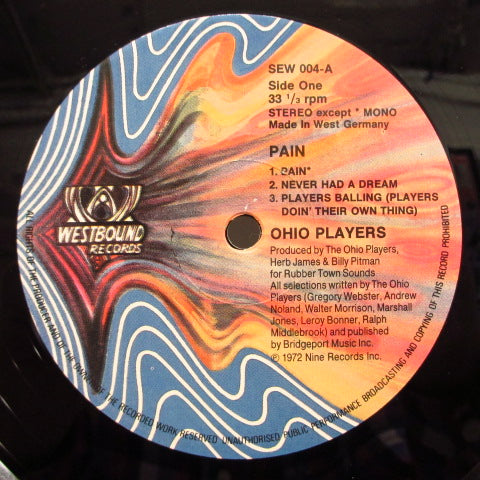 OHIO PLAYERS - Pain (WEST GERMAN:Re)