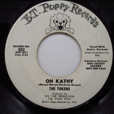 TOKENS - He's In Town / Oh Kathy (Promo)