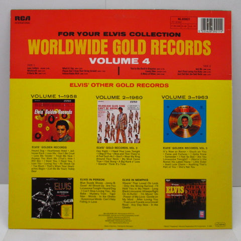 ELVIS PRESLEY - Elvis' Gold Records Vol.4 (欧Re)