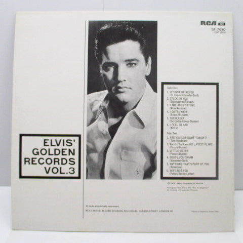 ELVIS PRESLEY - Elvis' Golden Records Vol.3 (UK Re/黒ラベ)
