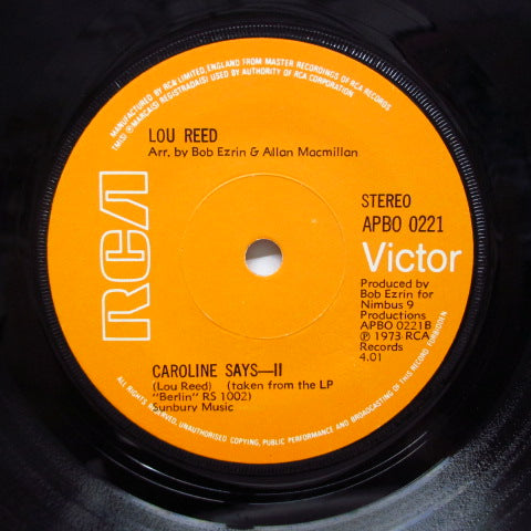 LOU REED - Caroline Says - I (UK Orig.Flat Center)