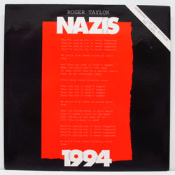 "ROGER TAYLOR - Nazis 1994 (UK '94 Ltd.Red Vinyl 7""+PS)"