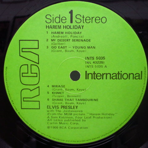 ELVIS PRESLEY - Harem Holiday (Harum Scarum) (UK 80's Re Stereo LP)