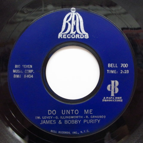 JAMES & BOBBY PURIFY - Do Unto Me / Everybody Needs Somebody