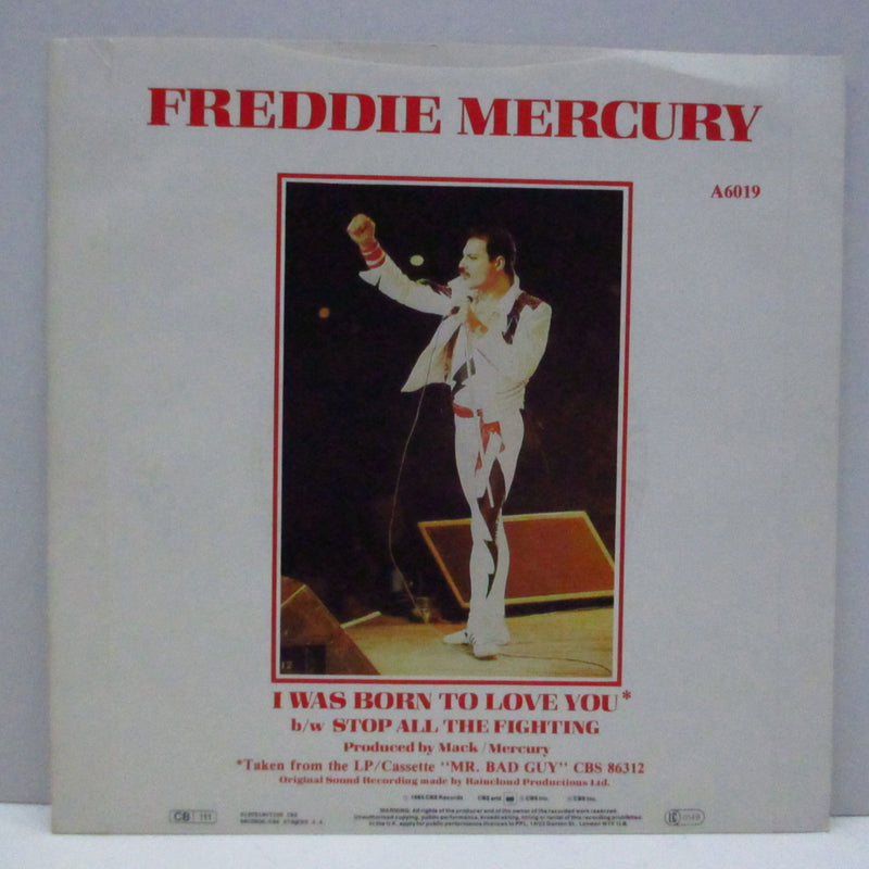 "FREDDIE MERCURY - I Was Born To Love You (UK Orig.7""+PS)"