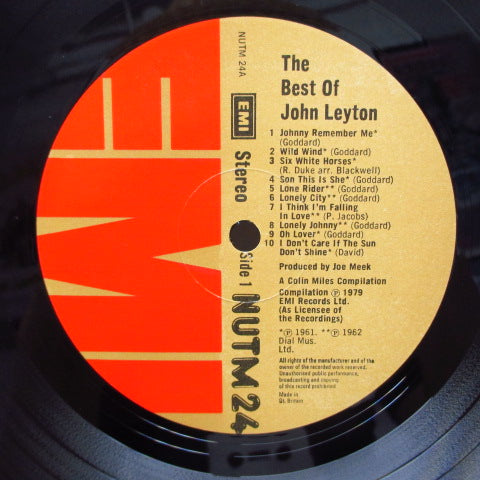 JOHN LEYTON - The Best Of (UK Orig.LP/CS)