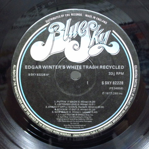EDGAR WINTER'S WHITE TRASH - Recycled (UK Orig.)