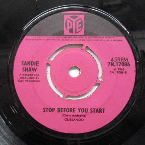 SANDIE SHAW - Stop Before You Start (UK Orig.Round Center)
