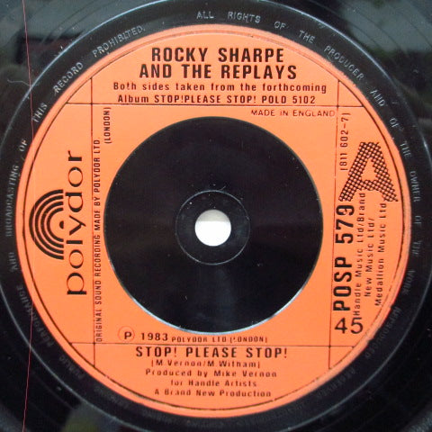 "ROCKY SHARPE & THE REPLAYS - Stop! Please Stop! (UK Orig.7""+PS)"